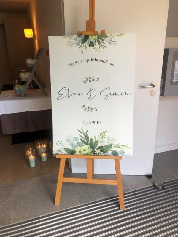 Bruiloft borden kanaalplaat