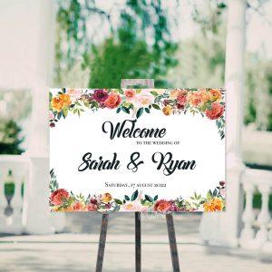 Bruiloftbord mag niet missen op uw bruiloft.